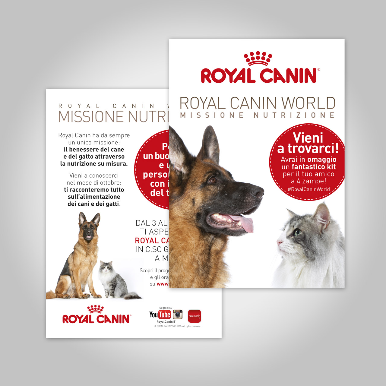 Locandina Royal Canin World Missione Nutrizione