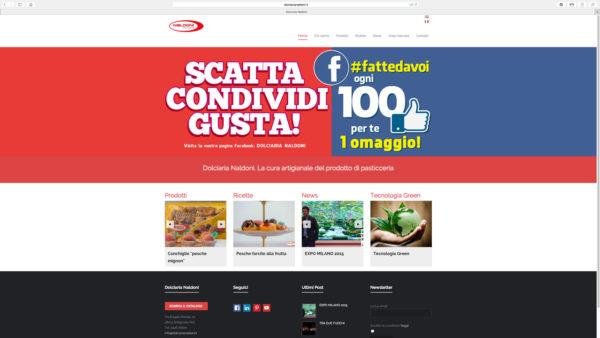 Banner pubblicitario sito Naldoni Dolciaria