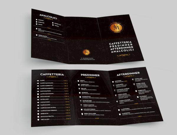 Ideazione e realizzazione menu